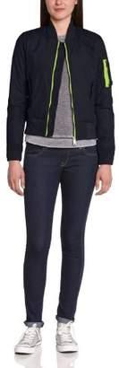 Schott NYC Women's Bomber Jacket Long Sleeve Jacket blue