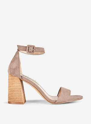 2d036f40af2e Dorothy Perkins Womens Taupe Flared Heeled Sandals