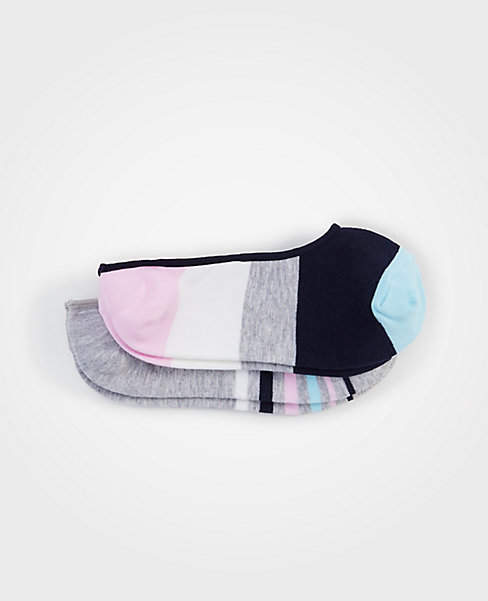 Striped No Show Sock Set