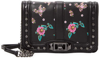 Rebecca Minkoff Studded Floral Leather Crossbody