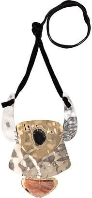 Proenza Schouler oversized hammered necklace