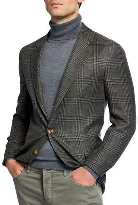Brunello Cucinelli Men's Prince of Wales Plaid Sportcoat