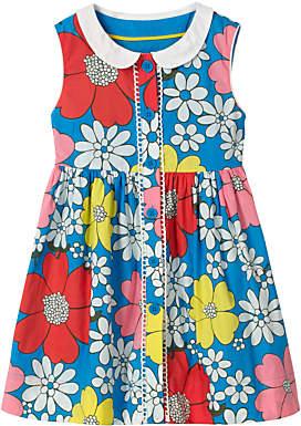 Boden Mini Girls' Nostalgic Collar Dress, Blue