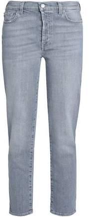 Edie Cropped High-Rise Slim-Leg Jeans