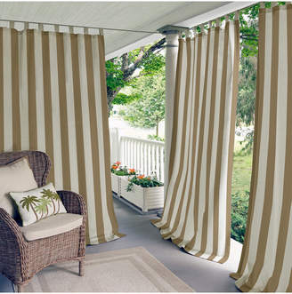 Elrene Highland Stripe Indoor/Outdoor Window Curtain Panel