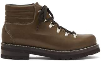 Montelliana - Tom Lace Up Leather Boots - Mens - Dark Green