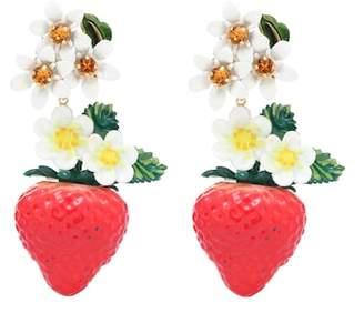 Dolce & Gabbana Crystal-embellished resin earrings