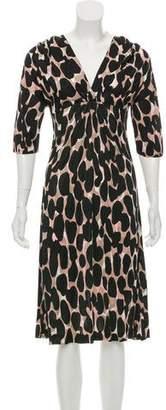 Anna Molinari Printed Midi Dress