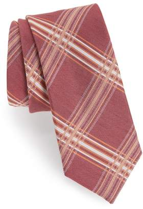 The Tie Bar KP Plaid Silk & Linen Tie