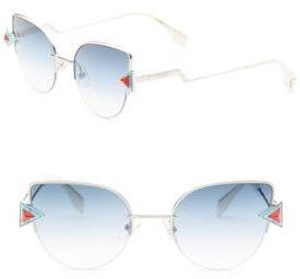 Fendi Rainbow 52MM Cat Eye Sunglasses $545 thestylecure.com