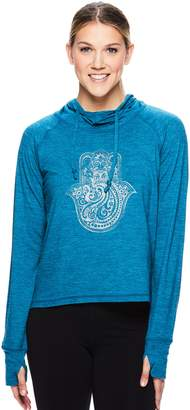 Gaiam Women's Maya Thumb Hole Graphic Yoga Hoodie