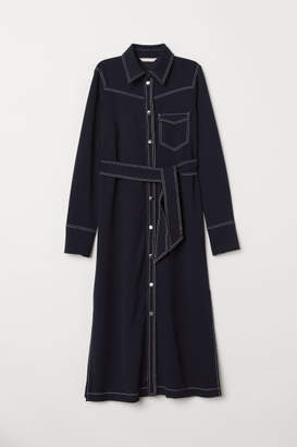 H&M Shirt Dress with Tie Belt - Blue