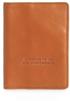 Hobo Quest Calfskin Leather Passport Wallet