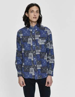 Gitman Brothers Paisley Blues Button-Down Shirt