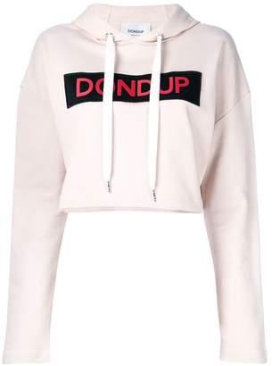 Dondup cropped logo print hoodie