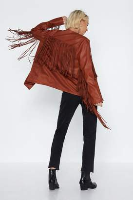 Nasty Gal Fringe with Benefits Faux Leather Jacket