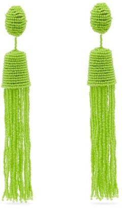 Vanda Jacintho - Bead Tassel Drop Earrings - Womens - Green
