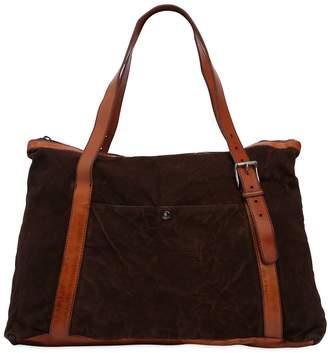 Numero 10 Textured Leather Bag W/ Vintage Effect