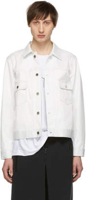 Fumito Ganryu White Water-Resistant Pleated Jacket