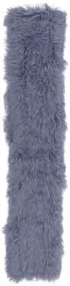 Yves Salomon Blue Fur Scarf