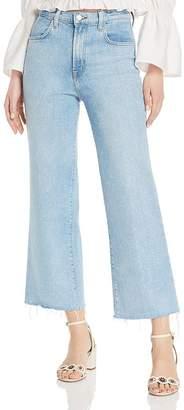 J Brand Joan Ankle Wide-Leg Jeans in Aerglo