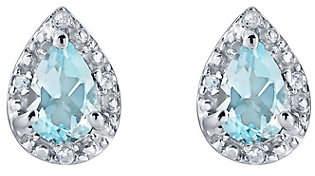 QVC Sterling Silver Pear Shaped Gemstone Earrings