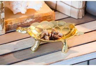 Bay Isle Home Belmar Tortoise Aluminum Trinket Dish