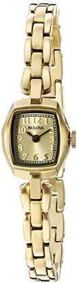 Bulova Women's 97L155 Analog Display Quartz Gold Watch