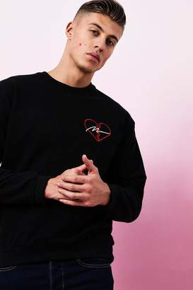 boohoo Valentines MAN 'Broken Heart' Sweater
