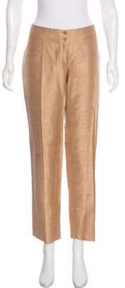 Dolce & Gabbana Silk Mid-Rise Pants