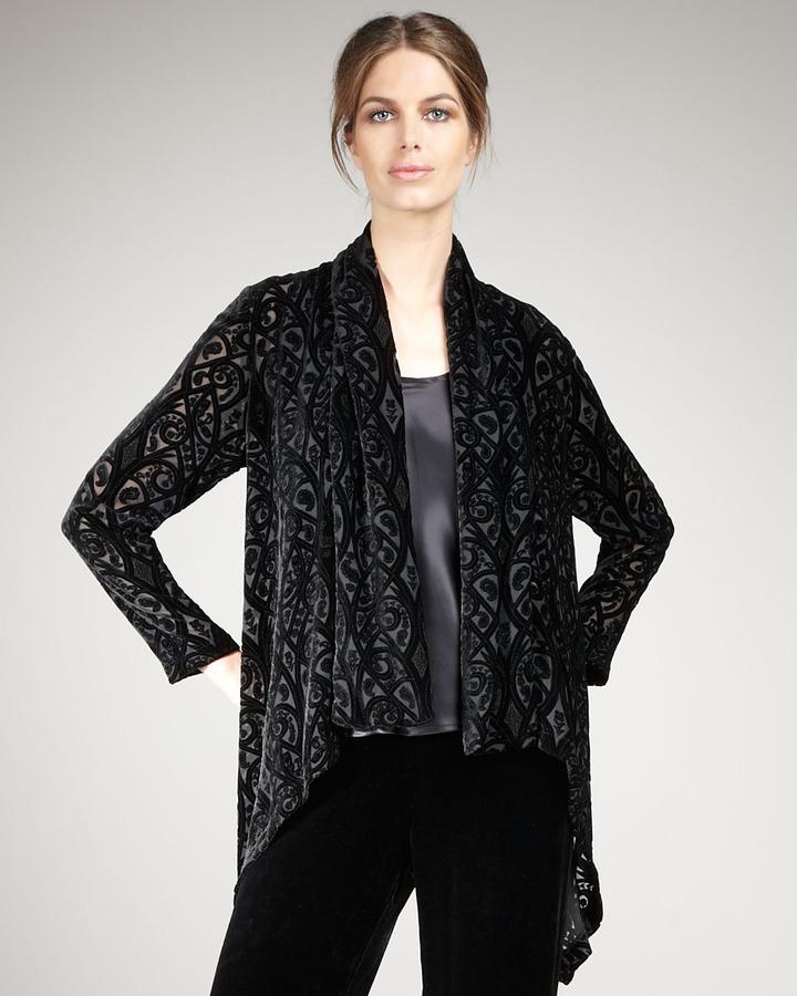 Neiman Marcus Velvet Burnout Jacket