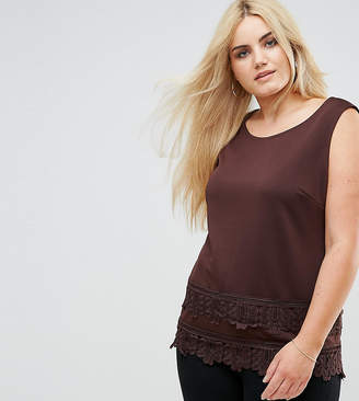 Lovedrobe Top With Crochet Trim