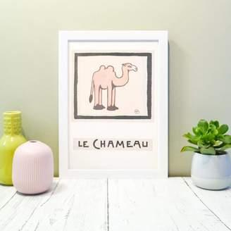 Lelloliving Le Chameau Framed Vintage French Camel Print