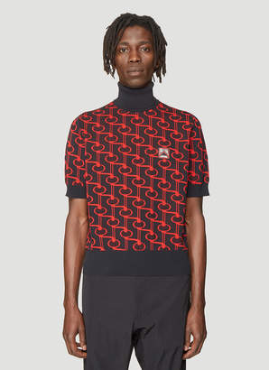 Technical Jacquard Sweater in Red