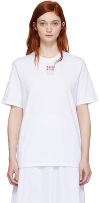 MSGM White Micro Color T-Shirt