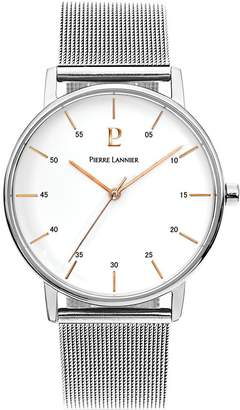 Pierre Lannier Men's Watch 202J108 - ELEGANCE STYLE - Silver and - Stainless Steel - Milanese Band
