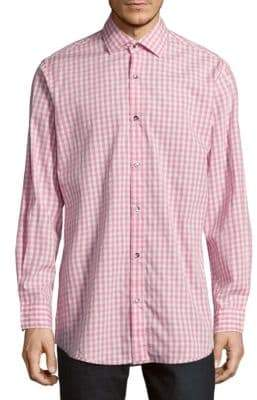 Saks Fifth Avenue Regular-Fit Gingham Cotton Sportshirt
