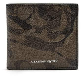 Alexander McQueen Camouflage bi-fold leather wallet