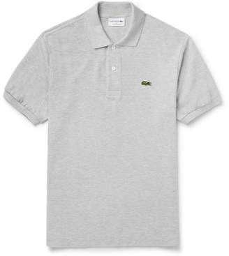 Lacoste Cotton-Pique Polo Shirt - Gray