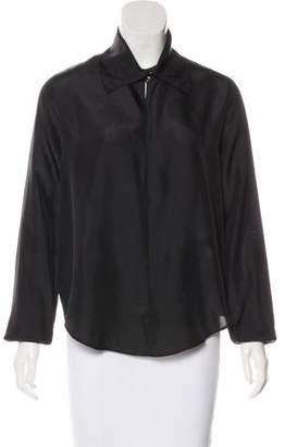 Giada Forte Silk Long Sleeve Top