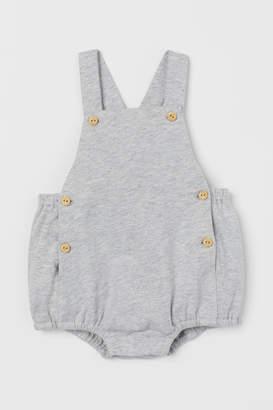 H&M Cotton Bib Overall Shorts - Gray