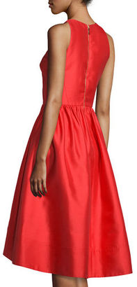 Kate Spade New York Sleeveless Satin High-Low Dress, Red $478 thestylecure.com