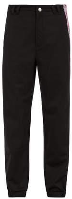 Givenchy Logo Jacquard Cotton Track Pants - Mens - Black