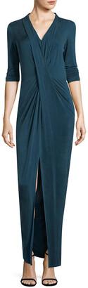 Three Dots Jersey Maxi Dress