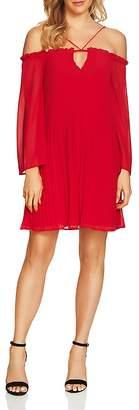 Cynthia Steffe CeCe by Ella Cold-Shoulder Pleated Dress