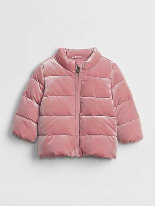 Gap ColdControl Max Velvet Puffer Jacket
