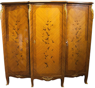 One Kings Lane Vintage Louis XV-Style Rosewood Armoire - Chez Marie Antiques