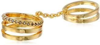 Paige Novick PHUN by Double Flex One Line Pave Gold Ring