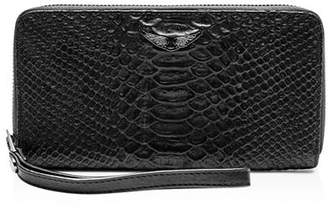 Zadig & Voltaire Compagnon Savage Medium Croc-Embossed Leather Wallet