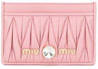 Miu Miu Matelassé leather cardholder